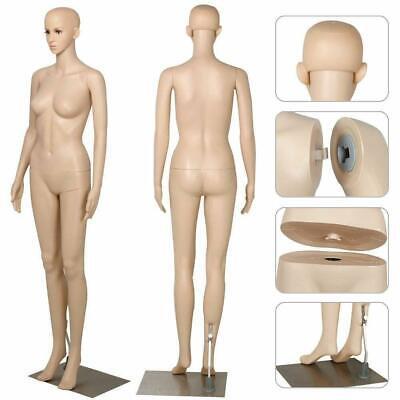 Female Mannequin Plastic Full Body Display Head Turn Dress Form Wbase Women 176
