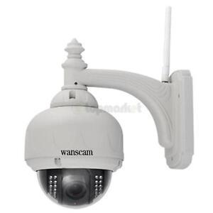 Wanscam 1MP CMOS 3X Zoom HD H.264 Wireless PTZ Pan/Tilt IR Cut Outdoor IP Camera