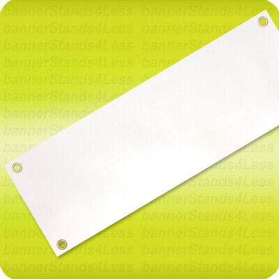 13x36 Inch Blank Vinyl Banner Sign 13oz White With Grommets