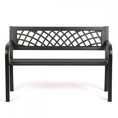 Patio Park Garden Bench Porch Path Chair Outdoor Deck Steel Frame New 545