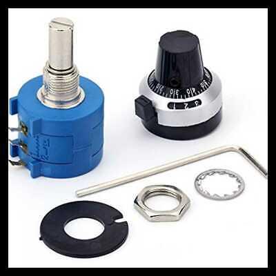 10 Turn Potentiometer 1k Ohm 2w Wirewound Multiturn Adjustable Precision