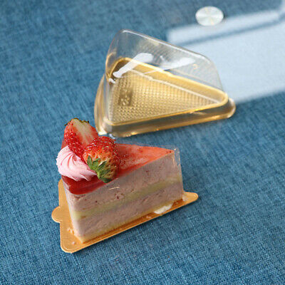 Mini Cake Boxes (50 Pcs Cake Boxes Triangle Mini Transparent Moon Cake Tray for Cakes)