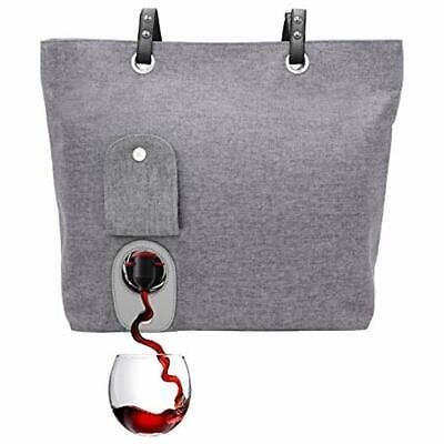 Bar Tools & Drinkware PortoVino Wine Purse (Ash) - Fashionable Tote Discreetly