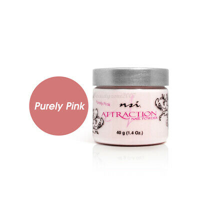 Nsi Attraction Nail Acrylic Powder - Purely Pink 1.4oz / 40g