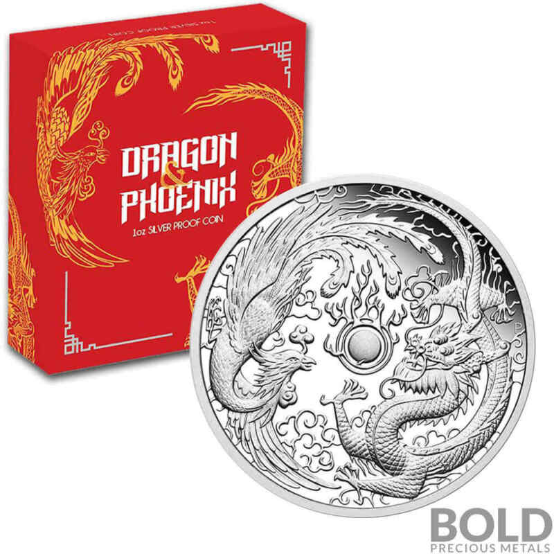 2018 Silver 1 oz Australia Perth Dragon & Phoenix Proof