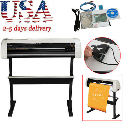 33 Vinyl Cutter Sign Cutting Plotter Machine With Contour Cut Function Usa Sale