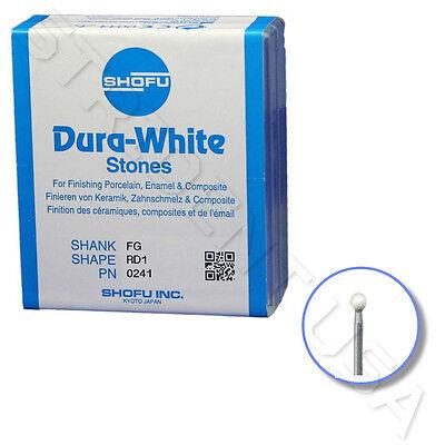 Shofu Dura White Mounted Stone Bur Fg Rd2 12 Per Box Sh - 0248