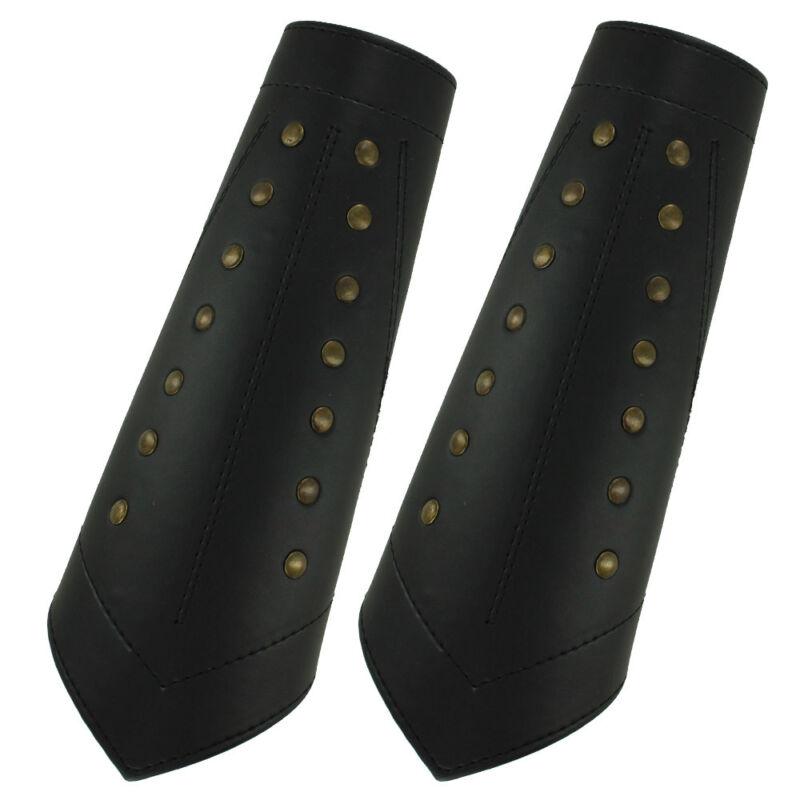 Thief Rangers Studded Black Sable Leather Arm Bracers Medieval Armor Set