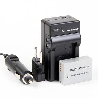 Cargador + Batería NB-10L 1300mAh para Canon Powershot SX60 HS, G3 X,...