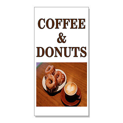Coffee And Donuts Food Fair Restaurant Cafe Market  Decal Sticker Store Sign