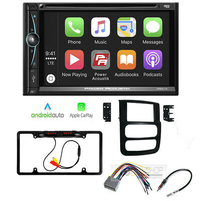 7 Inch Apple CarPlay Double DIN Radio Stereo Dash Kit for 2002-05 Ram 1500 Truck