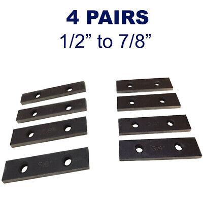 4 Pairs 532 X 3 Thin Precision Mechanist Parallel Steel 8 Pcs Set 0.0001