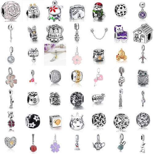 european charms silver cartoon love beads pendant