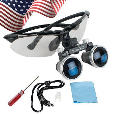 Us Dental Surgical Medical Binocular Loupes 3.5x 320mm Optical Glasses Magnifier