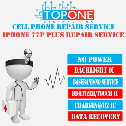 iPhone 7 / iPhone 7 Plus Audio IC No Mic Speaker Slow Boot Repair Service