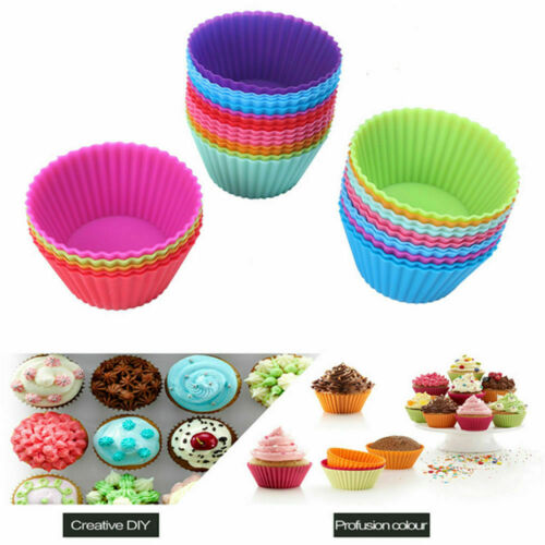 Silicone Cupcake Liners Muffin Cake Molds Kitchen Baking Cup