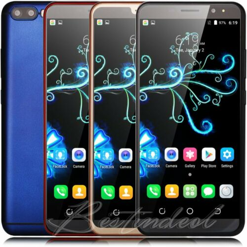 """Android Phone - Smartphone 6"""" Touch Unlocked Android 8.1 Quad Core Dual SIM 3G For Mobile Phone"""
