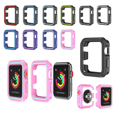 Bumper Silicone Skin (For Apple Watch iWatch Silicone Soft Protective Bumper Skin Case Cover 38 & 42mm )