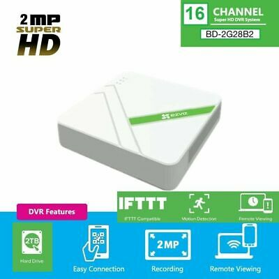 EZVIZ 2MP 1080p Super HD 16CH 2TB HDD DVR Smart Home Security System CS-VR116D for sale  Shipping to Nigeria