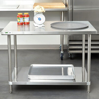 Heavy Duty 30 X 48 All Stainless Steel Work Prep Table Commercial 16 Gauge Nsf