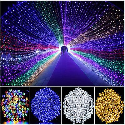 Solar String Lights 100-200 LED Outdoor Garden Party Christmas Fairy Lamp Decor