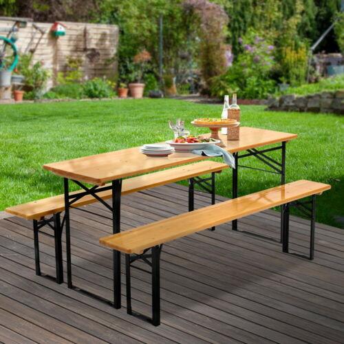 Garden Furniture - Gardeon Outdoor Furniture Setting Table and Chairs 3 PCS Patio Bench Garden Camp