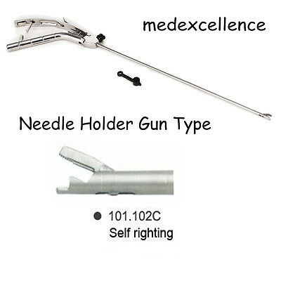 Sales Ce Needle Holder Gun Type Self Righting 5x330mm Laparoscopy Laparoscopic