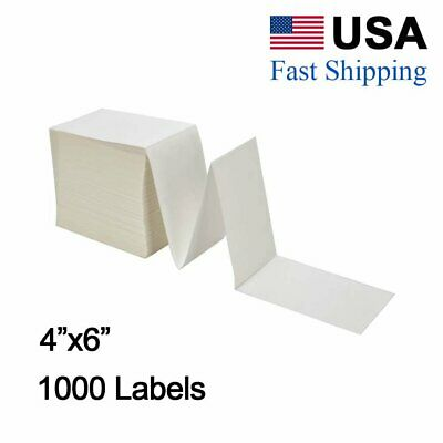 1000 4x6 Fanfold Direct Thermal Shipping Labels For Zebra Elton Rollo Printer