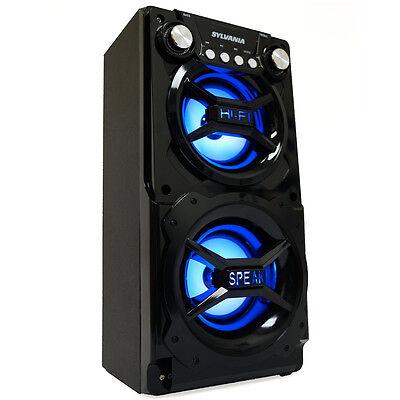 Sylvania Black Portable Hi-Fi Bluetooth Speaker w/ Treble/Bass/Volume Controls