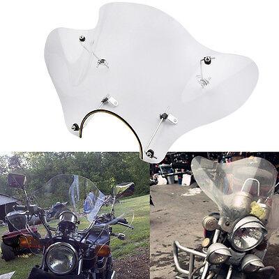 Universal Motorcycle Clear Windshield Windscreen Mounting Kit For Yamaha Honda