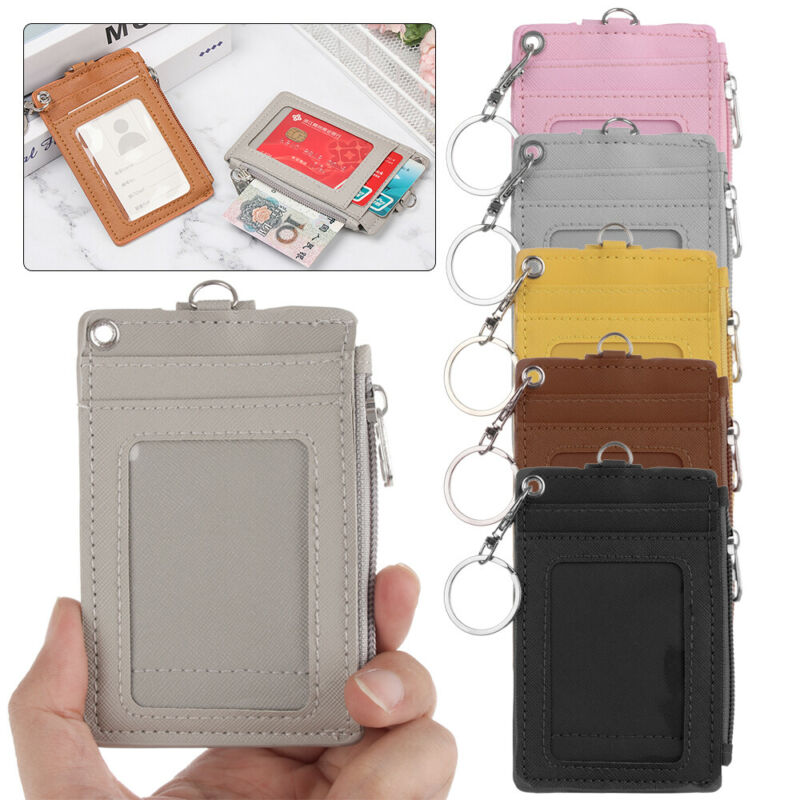 Business Bus Cards Cover Office Work ID Card Holder Coin Pur