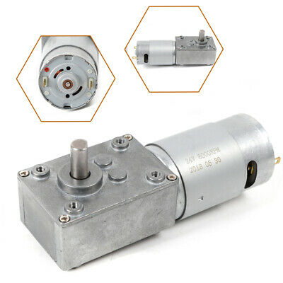 510rpm Electric Turbo Worm 12v High Torque Low Speed Gear Motor 8mm 3rpm New