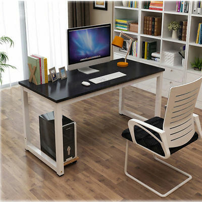 Modern Black Computer Table Study Desk PC Laptop Table Workstation Home  Office