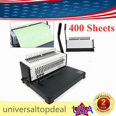 A4 21 Hole Punch Paper Binding Machine 400 Sheets Binding Punching Maker Us