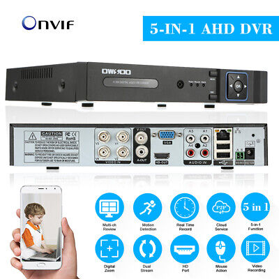 OWSOO 4Channel 1080P NVR AHD DVR 5in1 Video Recorder CCTV On