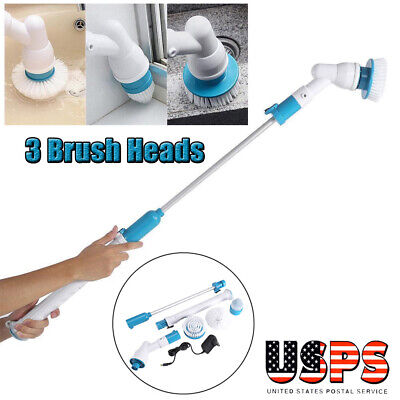 Electric Scrubtastic Rechargeable Cordless Spin Scrubber with 3 Heads Cleaning (Electric Scrubber)