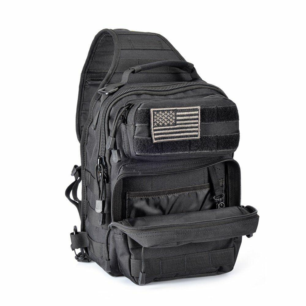 Adult Sports Tactical Sling Military Shoulder Backpack 4 Tac