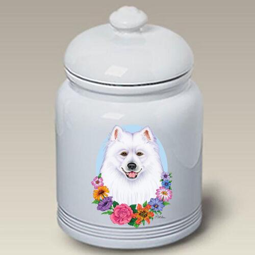 Samoyed Ceramic Treat Jar TP 47077