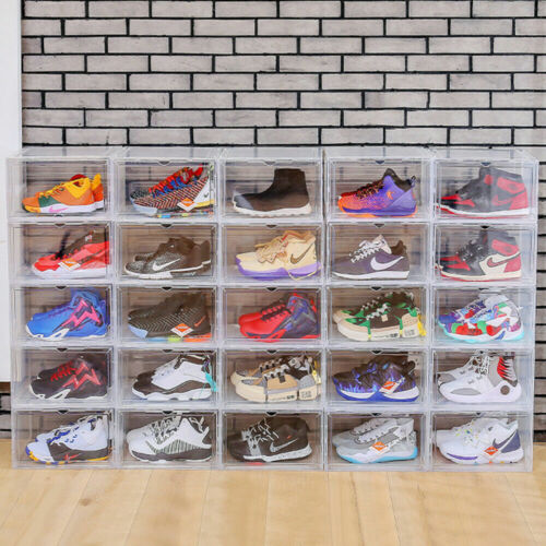 Magnetic Shoes Storage Box Sneaker Case Stackable Container XL - FAST FREE SHIP