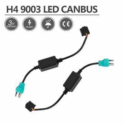 H4 9003 Headlight CANBUS LED Decoder Anti-Flicker Error Relay Resistor Adapter