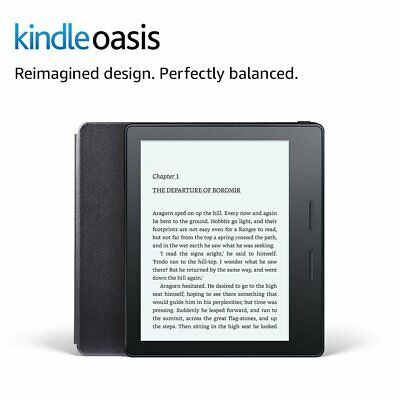 - Kindle Oasis 8th Gen bundle with Leather Charging Cover, Wi-Fi, Cellular, Black