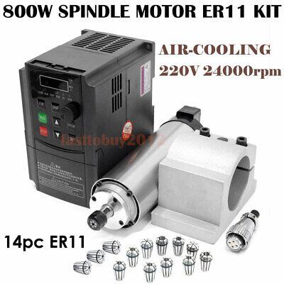 Cnc Router 800w Er11 Spindle Motor Air Cooled1.5kw Vfd Driver Inverterfedexdhl
