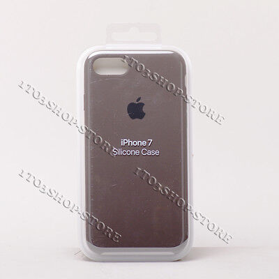 - Original Apple Silicone iPhone 7 iPhone 8 Snap Cover Grip Case Cocoa Dark Brown