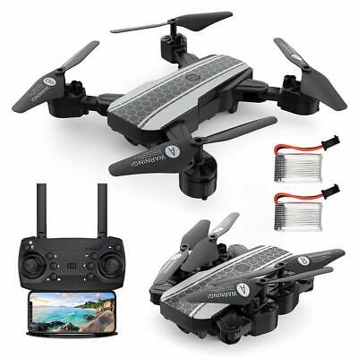 FPV Drones Selfie with 1080p HD Camera RC Quadcotper WIFI 6-Channel + 2Batteries