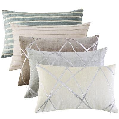 1/2Pcs Thick Chenille Jacquard Throw Pillow Case Sofa Couch Decor Cushion Cover - Pcs Chenille