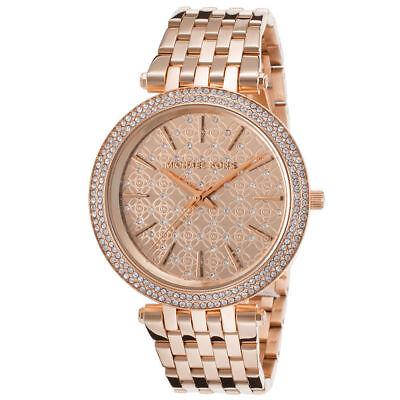 Michael Kors Darci Rose Gold Tone Monogram Dial MK3399 39mm Ladies Watch