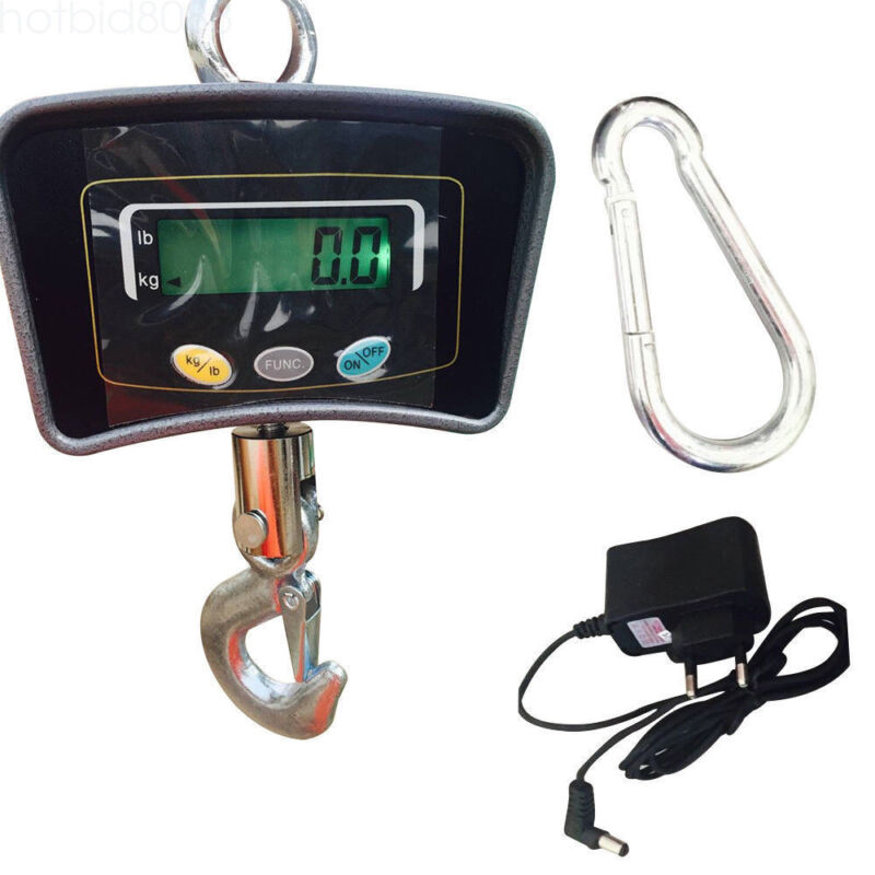 500kg 1100LB Electronic Crane Scale LCD Display Heavy Duty Hanging Weight Scale