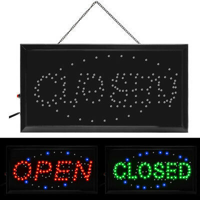 Bright Led 2 In 1 Open Closed Store Shop Business Sign 19 X 10 Display Neon