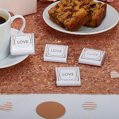 Rose Gold/Geo Blush Chocolate Squares - Wedding and Party Candy Buffet x - Chocolate Candy Buffet