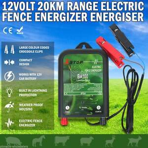 p  20km12V Solar Power Electric Fence Energiser Charger Poly Wire Ballarat Central Ballarat City Preview